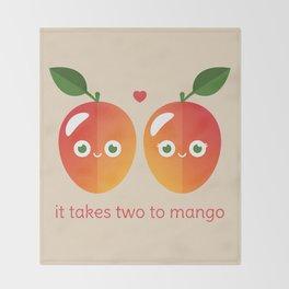 It Takes Two to Mango Throw Blanket