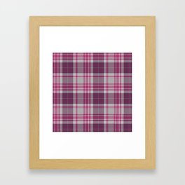 Plum Raspberry Plaid Framed Art Print