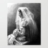 bride Canvas Prints featuring Bride by Hugo F G