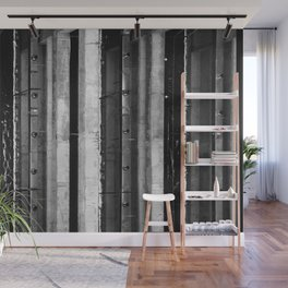 High Contrast Industrial Abstract Wall Mural