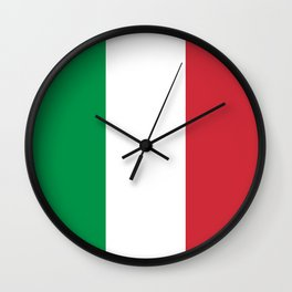 National Flag of Italy, High Quality Image Wall Clock