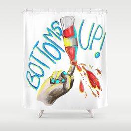 Bottoms up! Shower Curtain