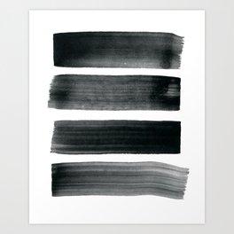 Four Brushes Art Print