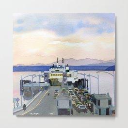 Ferry Line Metal Print