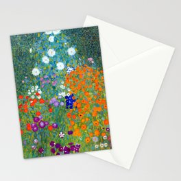 Gustav Klimt Flower Garden Stationery Cards