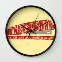 office Wall Clocks featuring Office Space by Drew Wallace