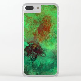 Isolation - Abstract, textured painting Clear iPhone Case