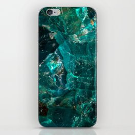 Cracked Teal Sugar iPhone Skin