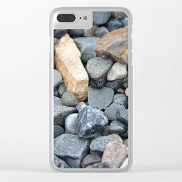 Rocks Pebbles Stones :: Alaskan Sand Clear iPhone Case