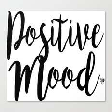 Positive Mood Lettering-PM coll Canvas Print