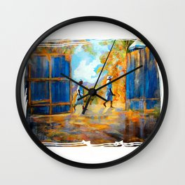 The Blue Gates /Haiti Wall Clock
