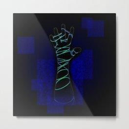 Reach Blue Metal Print