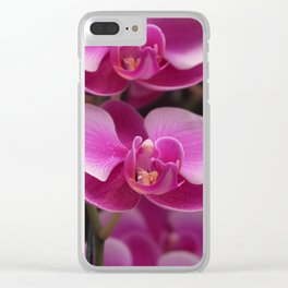Pink Orchid Clear iPhone Case