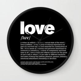 Define LOVE w/b Wall Clock