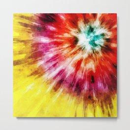 Vibrant Tie Dye Abstract Metal Print