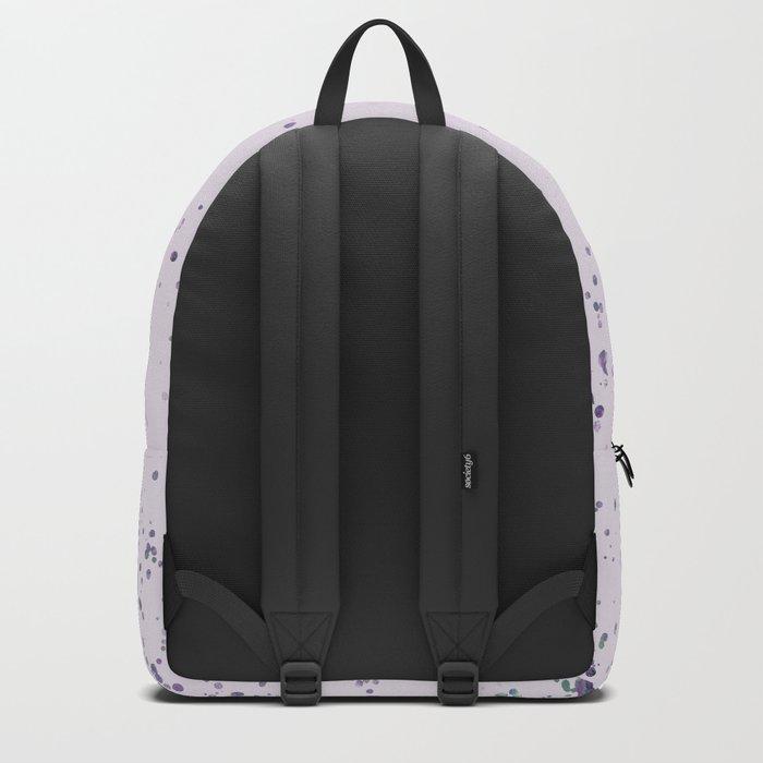 Purple Watercolor Seahorse Backpack
