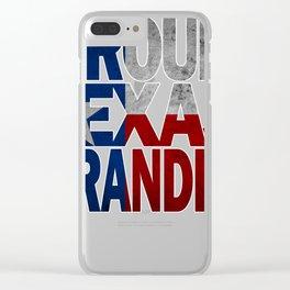 Proud Texas Grandpa Design Texas Flag Gift Clear iPhone Case
