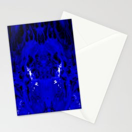 Abstract, Blue, Black, White (CA17018DM) Stationery Cards