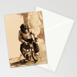 Bicycle Monkey Stationery Cards