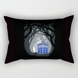Phone box lost in the woods Rectangular Pillow