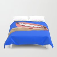 dentist Duvet Covers featuring Playing At Home by Tyler Spangler
