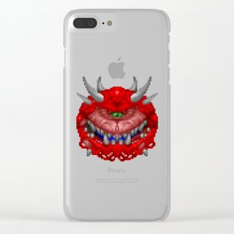Cacodemon Clear iPhone Case