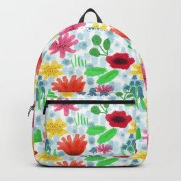 Campo fiorito acquarellato Backpack