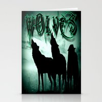 wolves Stationery Cards featuring WolveS by shannon's art space