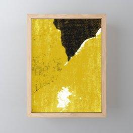 Mustard and Black Framed Mini Art Print