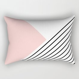 Pink angles and stripes Rectangular Pillow