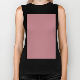 Solid Pink Bow Simple Solid Color All Over Print Biker Tank
