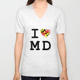 I Heart MD Unisex V-Neck