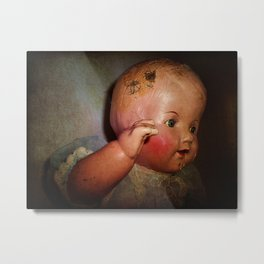 Old Cracked Doll Metal Print