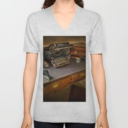 Vintage Writers Corner Unisex V-Neck