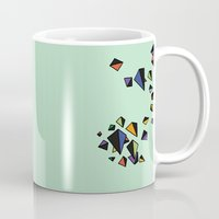 triangles Mugs featuring Triangles by Jarvis Glasses