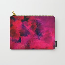 Red Abstract Painting Pattern Carry-All Pouch