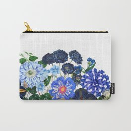 Vintage & Shabby Chic - Blue Flower Summer Meadow Carry-All Pouch
