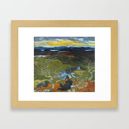 Helmer Osslund Spring Evening Behind Kiruna Framed Art Print