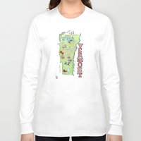vermont Long Sleeve T-shirts featuring VERMONT by Christiane Engel