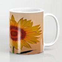 sunflower Mugs featuring sunflower by  Agostino Lo Coco