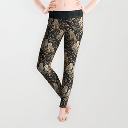 Wooden Wonderland Barn Owl Collage Leggings