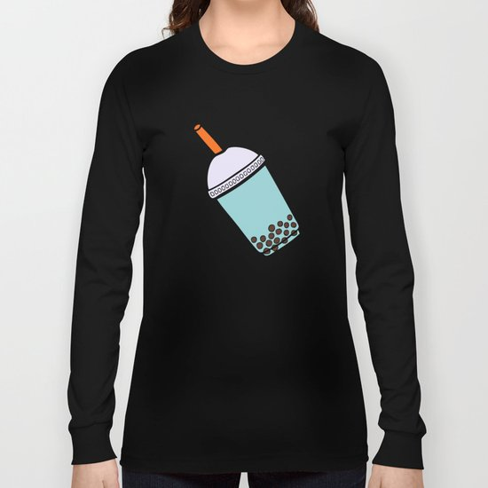 Bubble Tea Pattern Long Sleeve T-shirt