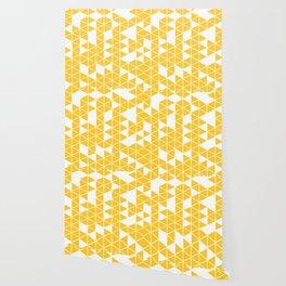 Golden triangle pattern Wallpaper