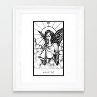 tarot Framed Art Prints featuring Judgement Tarot by Corinne Elyse