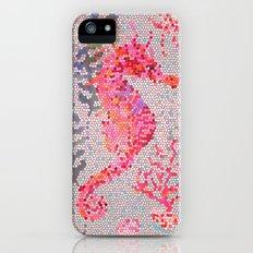 Mosaic Seahorse iPhone (5, 5s) Slim Case