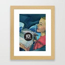 ICI tout va bien // 5 Framed Art Print