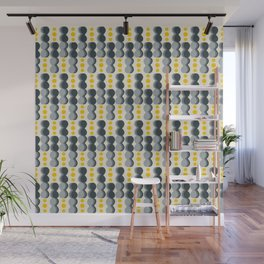 Uende Grayellow - Geometric and bold retro shapes Wall Mural