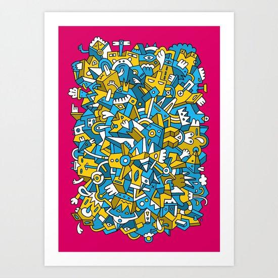 Chewing The Mat Art Print