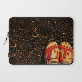 Shoes in the Mulch Laptop Sleeve