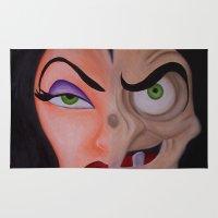 evil queen Area & Throw Rugs featuring Evil Queen by Jgarciat